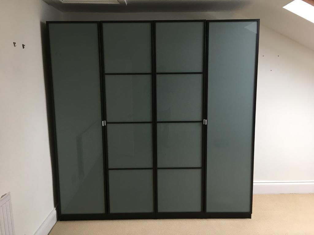 Pax Wardrobes With Frosted Glass Doors In Shepherds Bush London