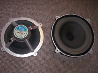 "Two Vintage Baker 12"" Guitar Speaker chassis, 35 watts RMS, 16ohms"