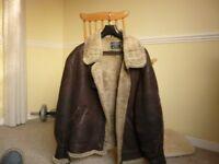 sheepskin American style flying jacket six large 42 - 44