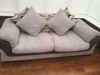 3 seater sofa grey cord