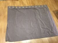 Grey made-to-measure John Lewis curtains - 190x150cms