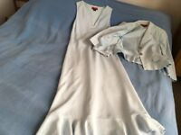Pale blue dress and jacket size 12