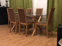 Dining Table and Chairs in Suede