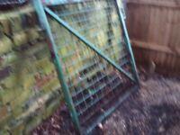 Metal frame gate - approx 107 x 108 cm