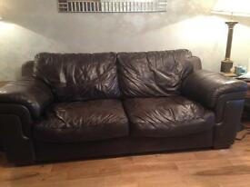 Large leather sofa - Collection only