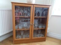 Wooden Glass Display Cabinet - Excellent Condition