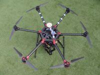 DJI S900 drone RTF, 2X Futaba 14SG, DJI Z15 Panasonic GH4 gimbal, batteries, charger and a lot more
