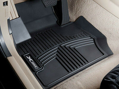 Genuine BMW F25 X3 All Weather Floor Liners Molded Mats Black Front and Rear