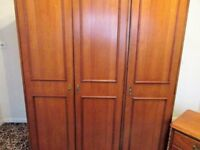 Treble solid wood wardrobe