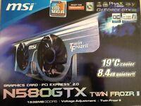 MSI NVIDIA GeForce 580 GTX (1536 MB) (N580GTX TWIN FROZR IIOC) Graphics Card