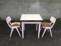 GENUINE 1960s TABLE AND CHAIRS FREE DELIVERY 🇬🇧VINTAGE RETRO