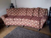 Curved Sofa and Arm Chair - with Caster wheels or legs