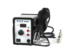 NEW, WEP 858D (110V) Hot Air Rework Soldering Station for Rework Repair