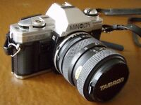 Minolta X300 SLR camera