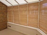 High quality woodweave Roman conservatory blinds (16 available)