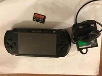 PSP 1004 with 5 gams and 8 gb memory card used