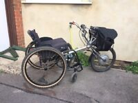 Powertrike 36v battery powered bike and wheelchair