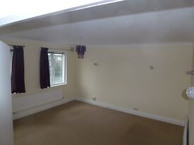 Very Spacious 2 bed flat above shop in Stapleton with garage.