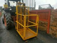 Forklift man safety basket tractor telehandler farm industrial estate builder etc