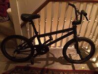 Professional black BMX Bike with many upgrades