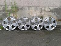 17 inch audi alloys without tyres. 112 x 5 stud pattern. £40.00