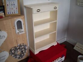 Handmade Distressed Small Shelving Unit Off-White