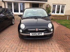 Black fiat 500 hatchback 1.2 pop 2015