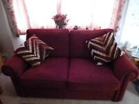 williams and griffins 2 sofas +footstool for sale