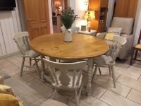 Dining table solid wood with Four Chairs