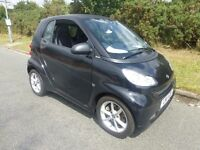 SMART FOURTWO COUPE 2011 11 REG IN BLACK