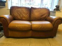 2 seater sofa and chair quality in antique brown