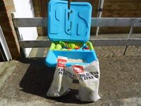 ELC sand and water table with toys and 1.5 bags of play sand