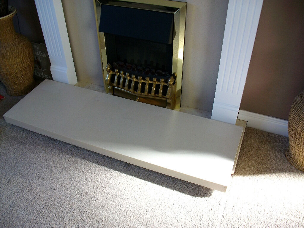 fireplace hearth for surround cream beige marble effect 4 foot