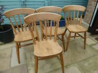 solid wood farmhouse slat back chairs