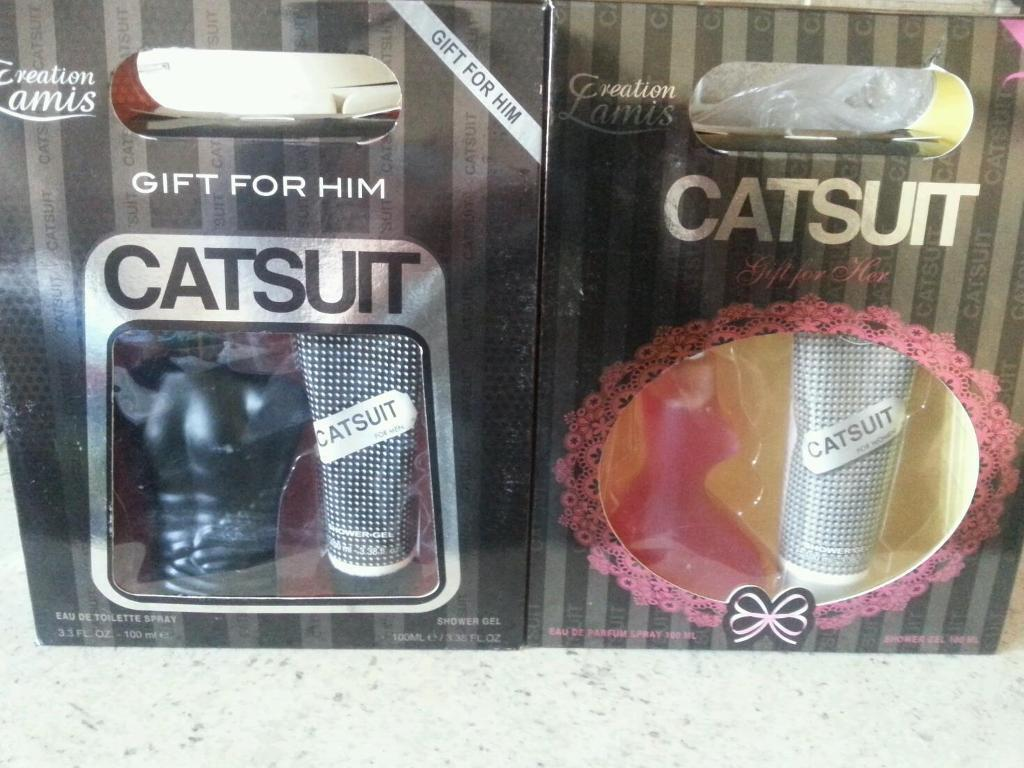 Catsuit presume his and her new in boxin Bradford, West YorkshireGumtree - Catsuit perfume for him and her complete inbox £10 for two or £5 each new in box for more info you can contact me