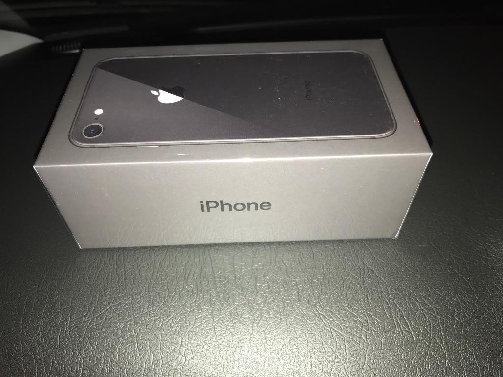 apple iphone 8 64gb black brand new in box in salford