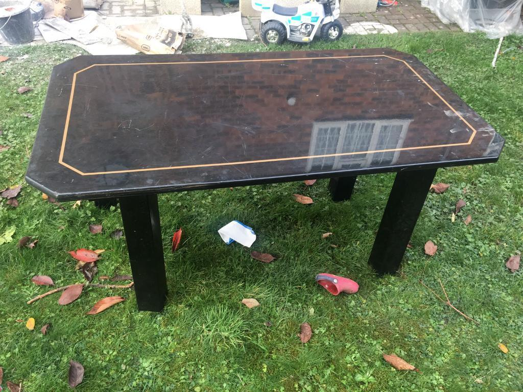 Dining Table In Black Quick Sale
