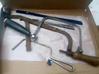 Hand saws.