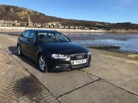 Audi A4 Avant Diesel manual,Black , 1 owner, FSH, leather, nav