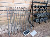 GYM WEIGHT RACK WITH X92 WEIGHTS AND BARS GREAT CONDITION