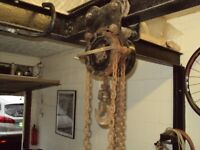 Block and Tackle with RSJ Lifting beam .