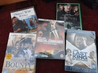 Master and Commander, The Bounty, Dances with Wolves, The Last King of Scotland, Road to Perdition