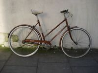Original Vintage Town / Commuter 3-Speed Bike by Raleigh, Brown, JUST SERVICED/ CHEAP PRICE!!!