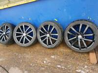 Volkswagen golf alloy genuine 18 with tyres