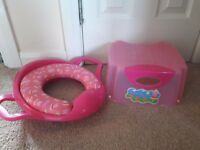 Peppa pig toilet seat and stool
