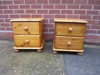 Bedside/tables/lockers. Solid Pine pair of Bedside tables ,, Very strong & heavy