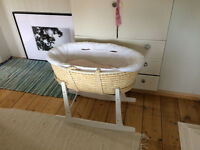 Brand New Moses Basket - Barely Used !