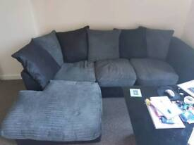 Sofa, cuddle chair & coffee table