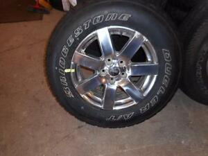 4-P255/70R18 112S BRIDGESTONE DUELER A/T ON NEW JEEP RIMS