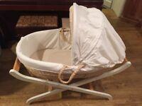 Baby Wicker Moses Basket with stand